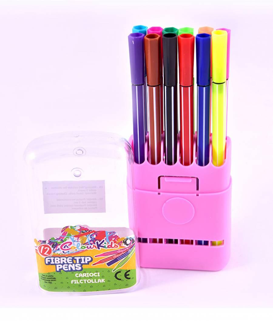 Carioci cutie plastic 12 culori, Colour KIDS