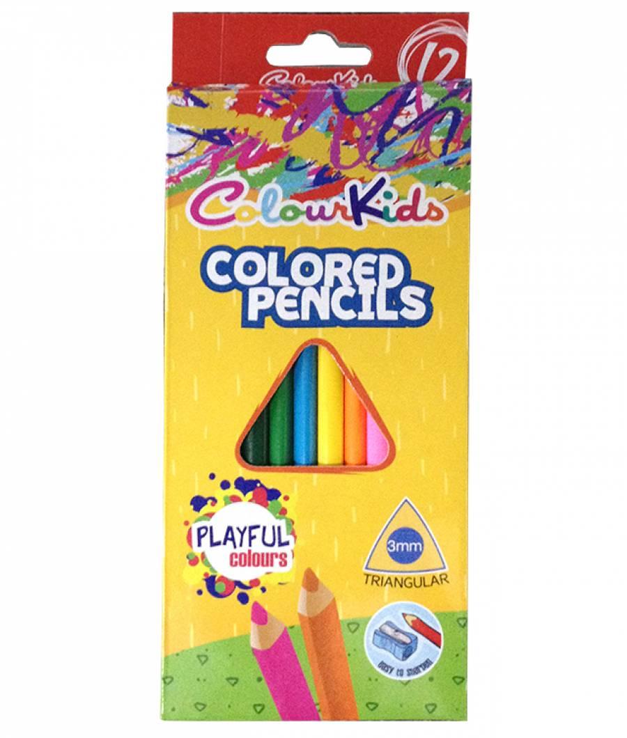 Creioane Color. CK 12 culori Triunghiulare 3 mm  Colour KIDS