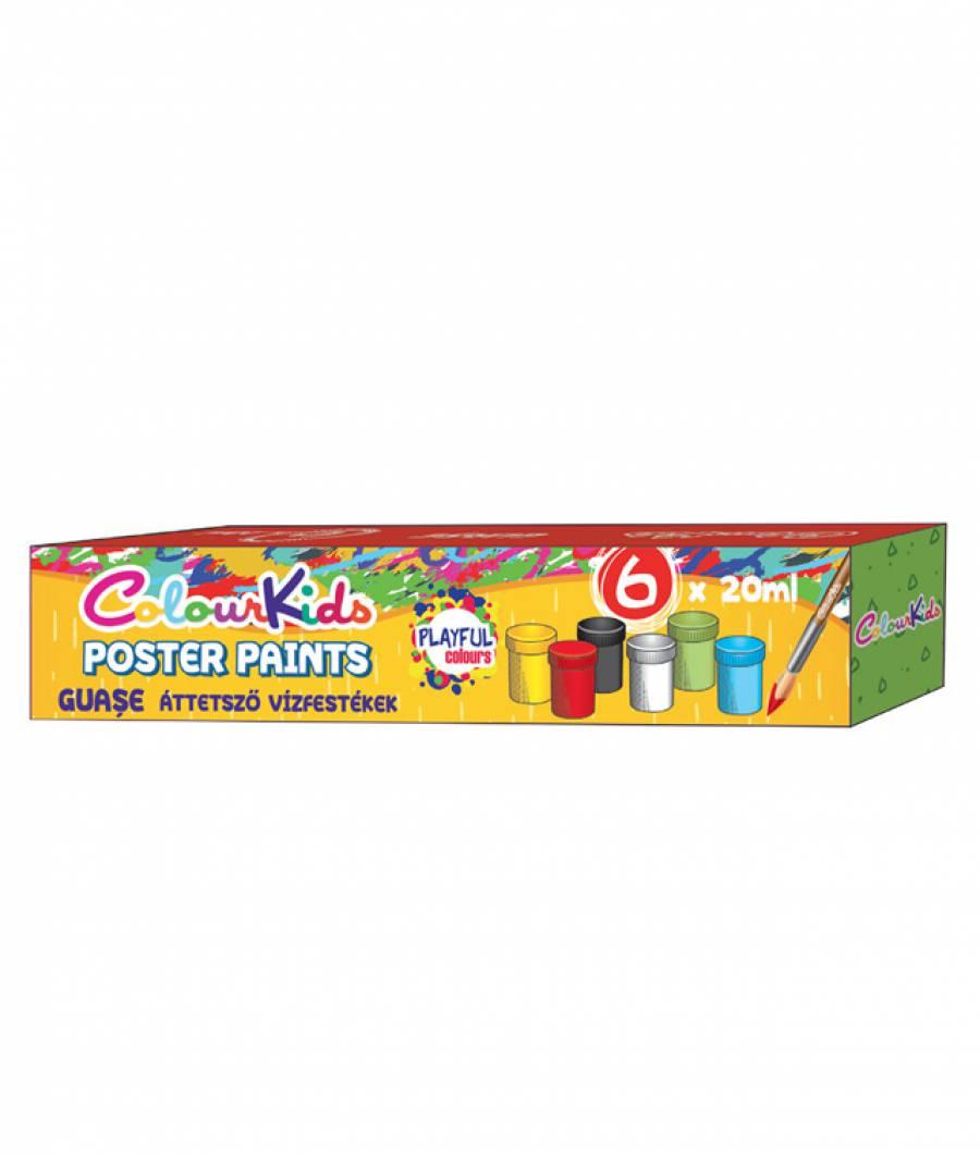 Set Guase 06/set 20ml. ColourKids cutie  plastic