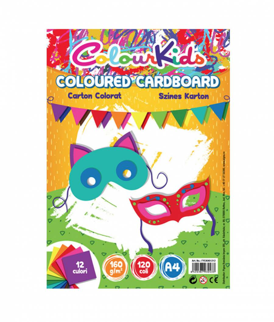 Carton Color A4 160gr 120 coli  12 culori Colour KIDS