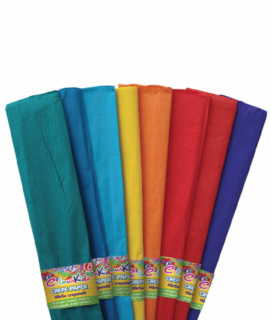 Hartie creponata 10 cul/set, 10set/pach ColourKids