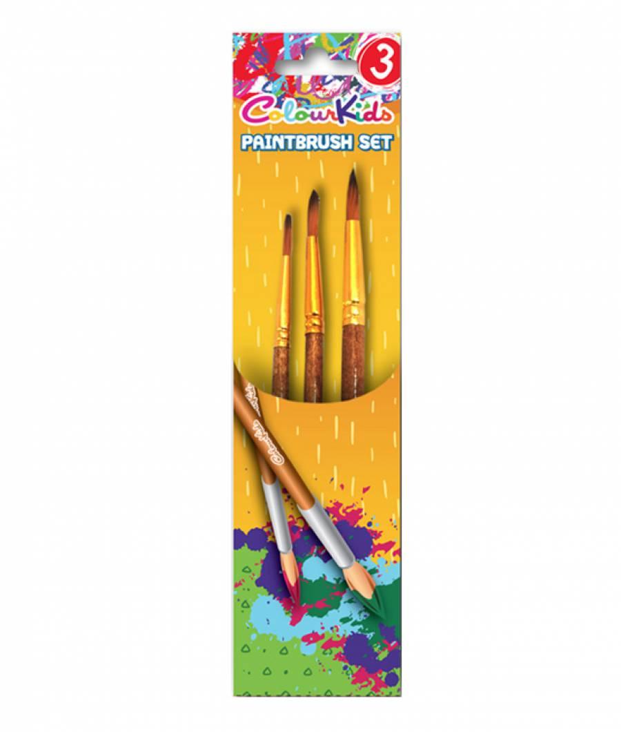 Pensule. CK varf ascutit 3buc  nr.3/7/11 Colour KIDS