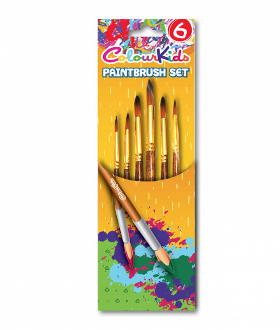 Pensule. CK varf ascutit 6buc nr.2/4/6/8/10/12 Colour KIDS