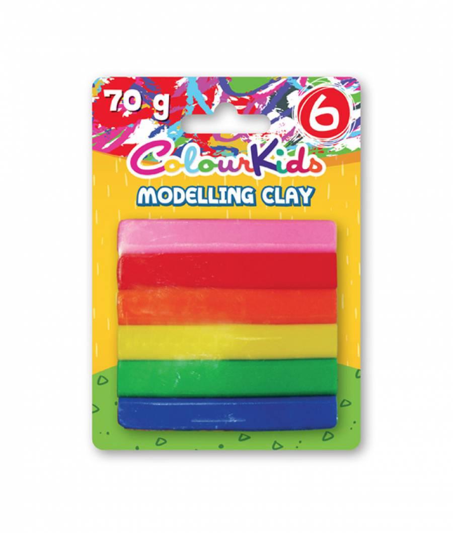 Plastilina. 06 culori 50gr Colour KIDS