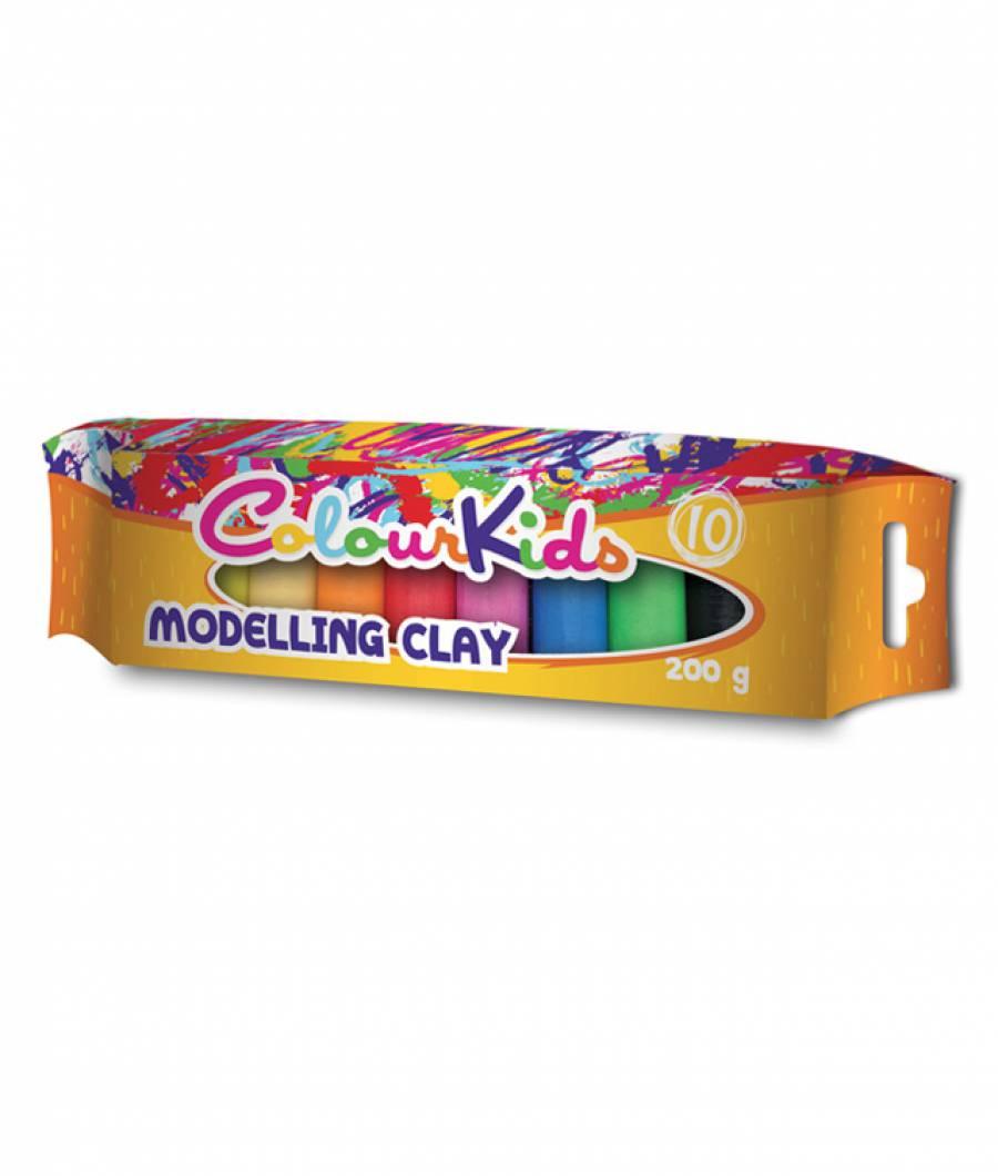 Plastilina 10/set 200gr, ambalaj  plastic  ColourKids
