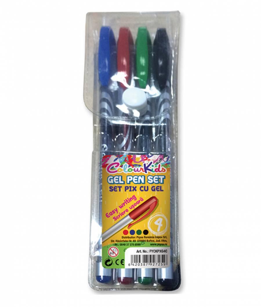 Blister 4 Pix cu Gel - 4 culori ColourKids