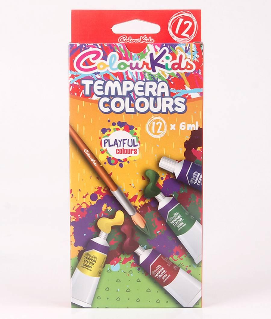 Tempera. 12 culori 06ml. Colour KIDS