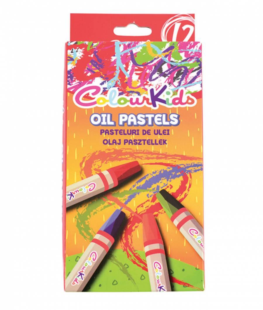 Creioane ulei pastel 12 culori, ColourKids