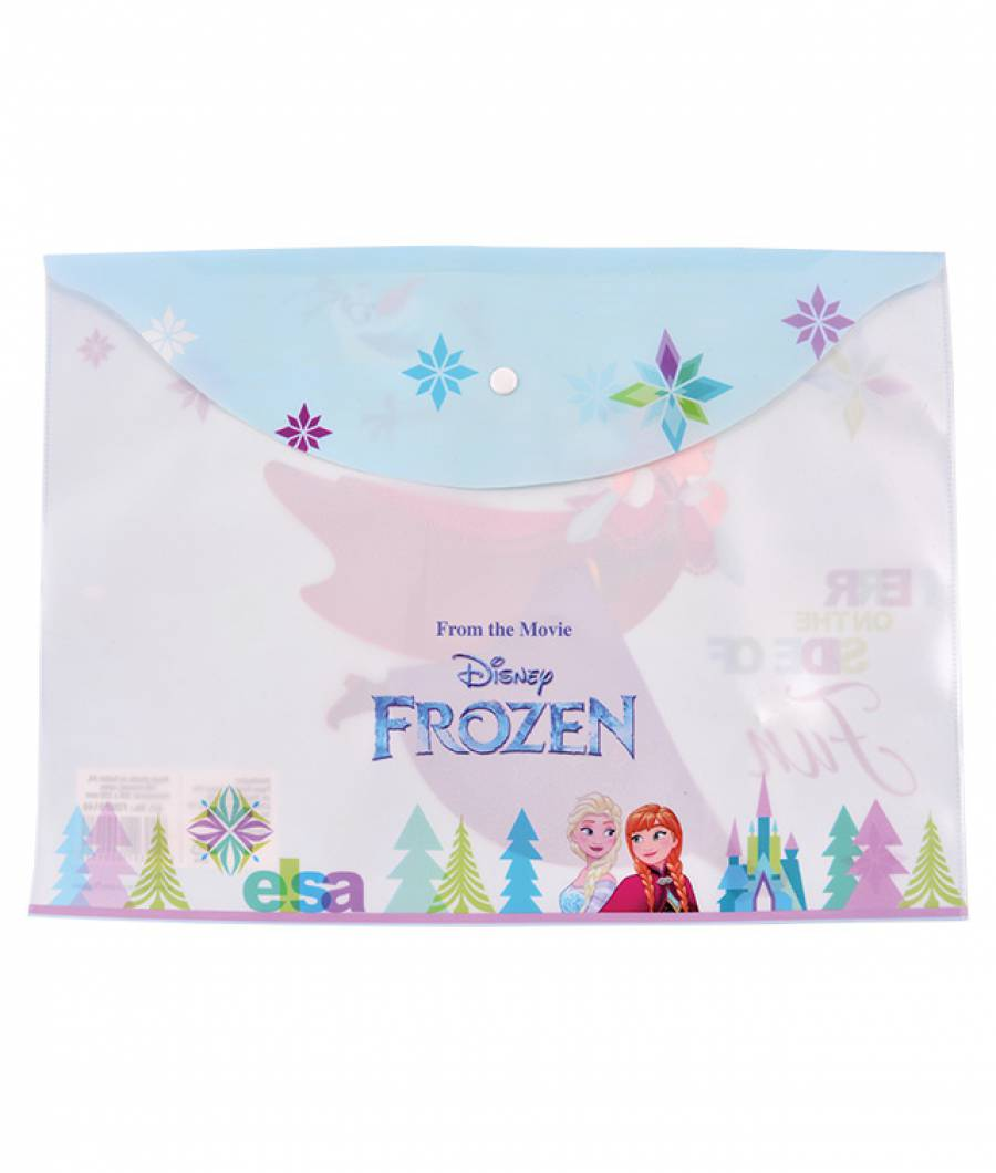 Mapa  plastic  cu buton A4, Frozen R