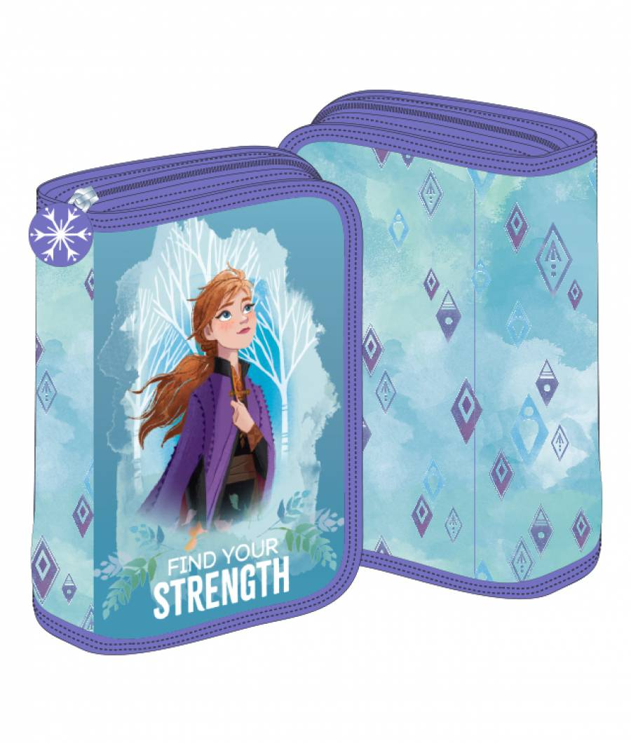 Penar 2 extensii turcoaz-violet Frozen 2