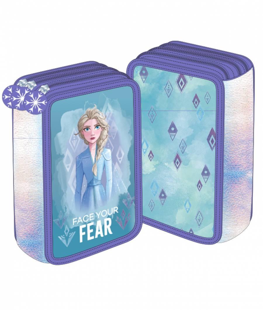 Penar 3 fermoare turcoaz-violet Frozen 2