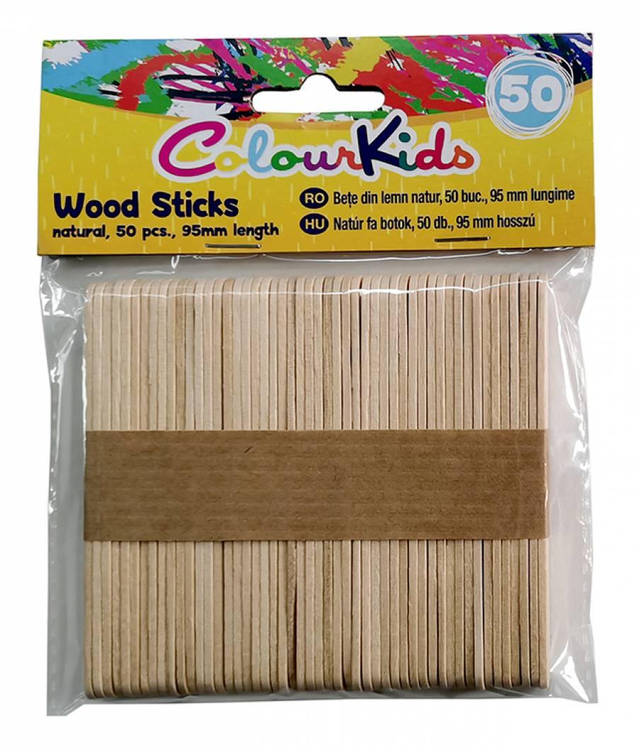 Bete lemn natur 95mm 50 bucati