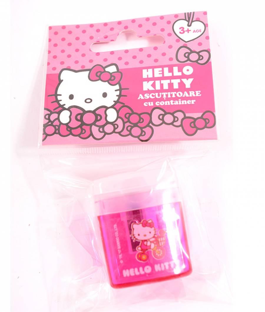 Ascutitoare cu container Hello Kitty