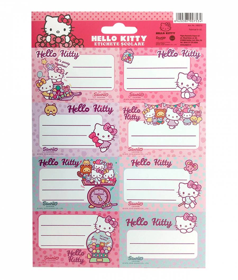 Etichete scolare 40/set Hello Kitty R