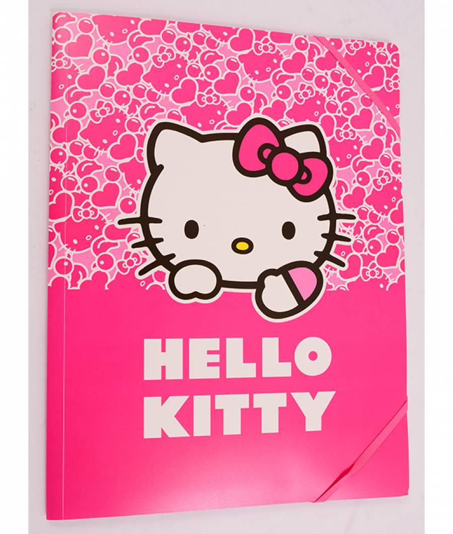Mapa  plastic  cu elastic A4, Hello Kitty