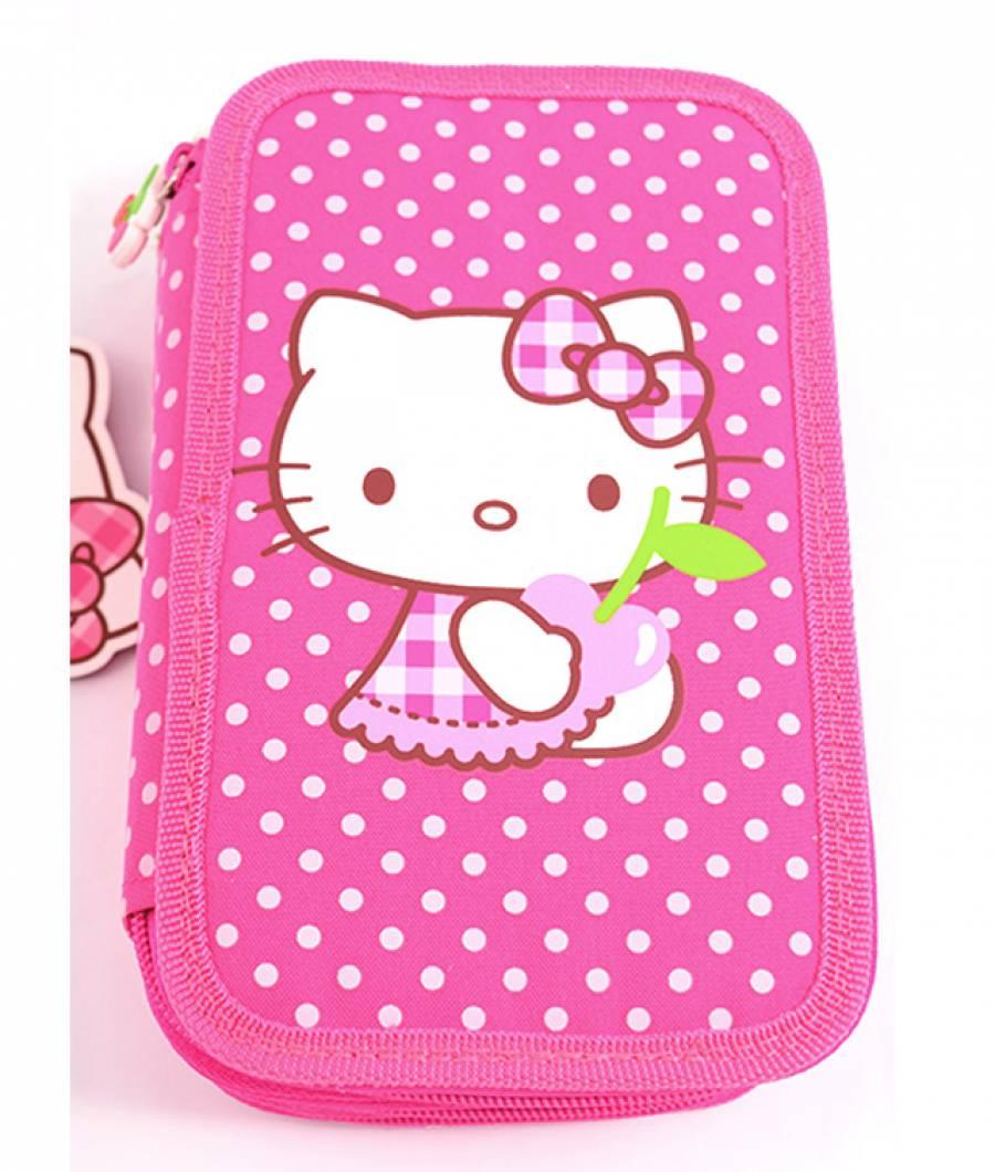 Penar Neechipat 3 fermoare Hello Kitty Roz Buline Hello Kitty