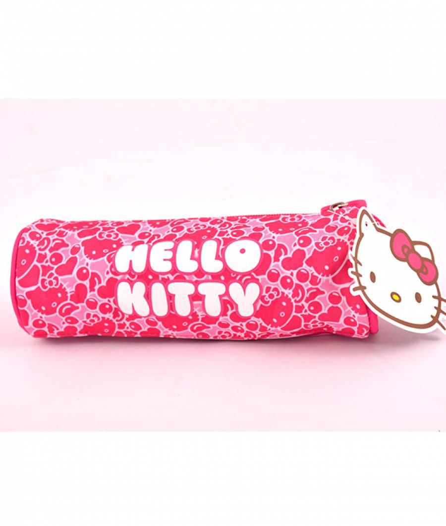 Penar Etui Tubular Hello Kitty Roz Dungi Hello Kitty