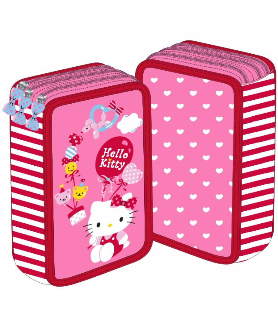Penar 3 fermoare roz Hello Kitty
