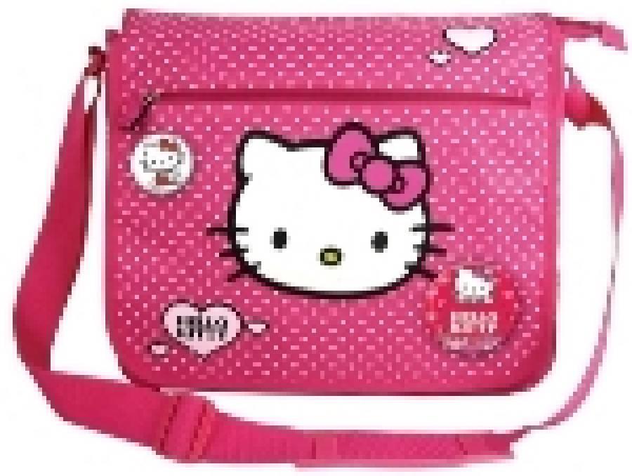 Geanta de umar dreptunghiulara Hello Kitty Roz Hea