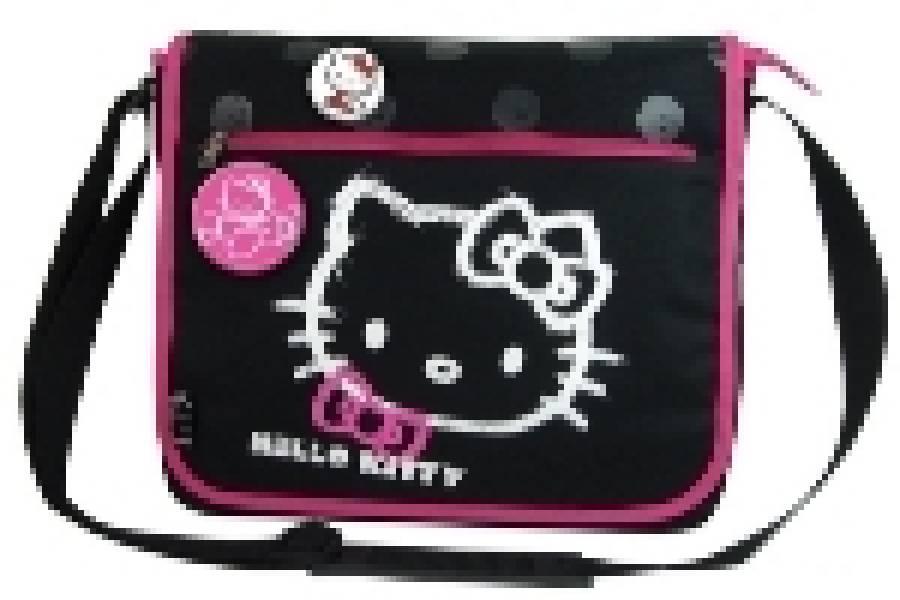 Geanta de umar dreptunghiulara Hello Kitty Negru S