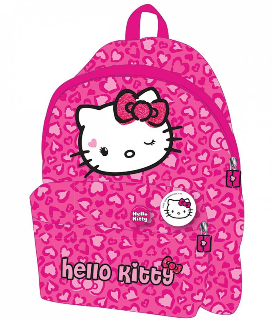 Ghiozdan Gradinita Simplu Hello Kitty Roz