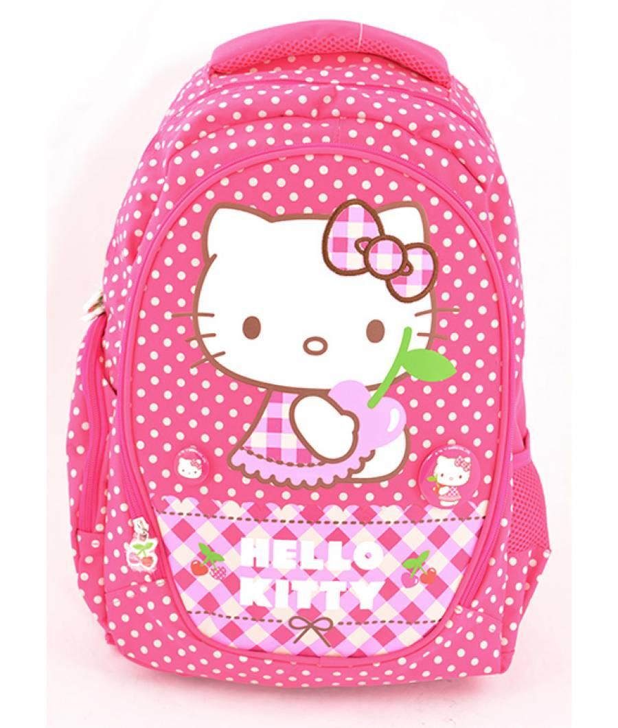 Ghiozdan, clasa 1/4, Hello Kitty Roz Buline