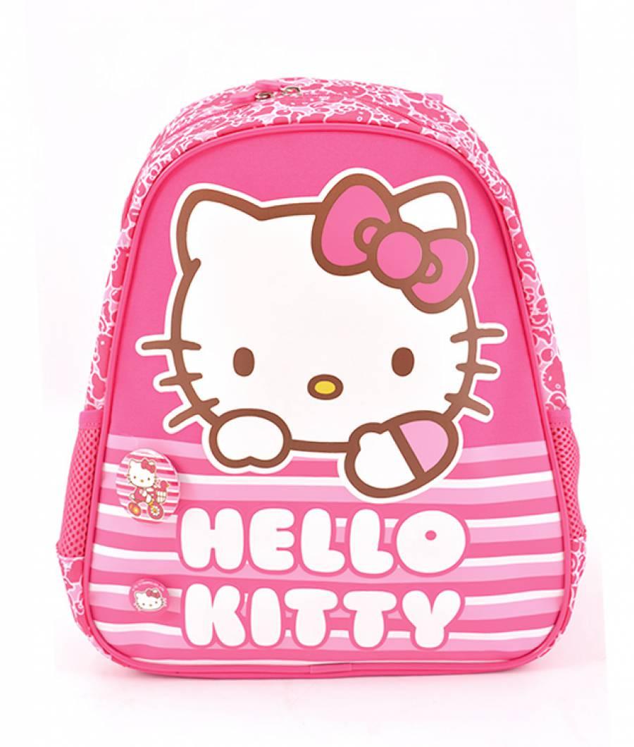 Ghiozdan Gradinita Hello Kitty Roz Dungi Hello Kitty