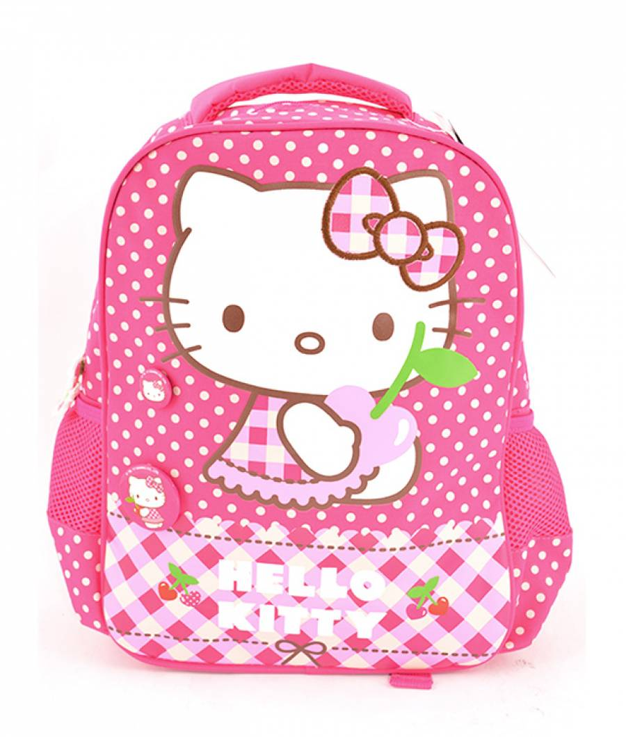 Ghiozdan Gradinita Hello Kitty Roz Buline Hello Ki