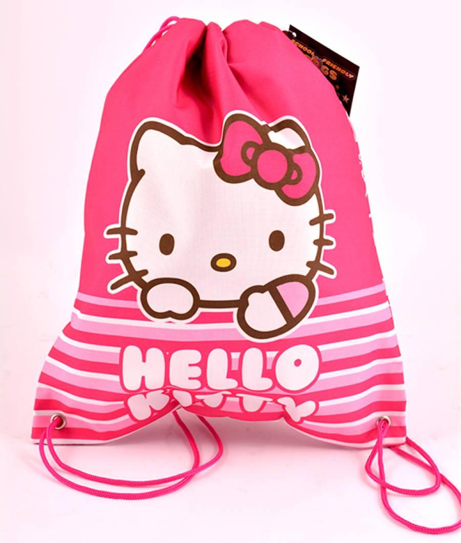Sac Sport Hello Kitty Roz cu dungi