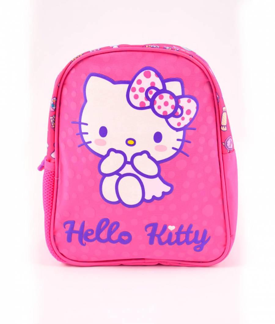 Mini-ghiozdan prescolari roz inchis Hello Kitty