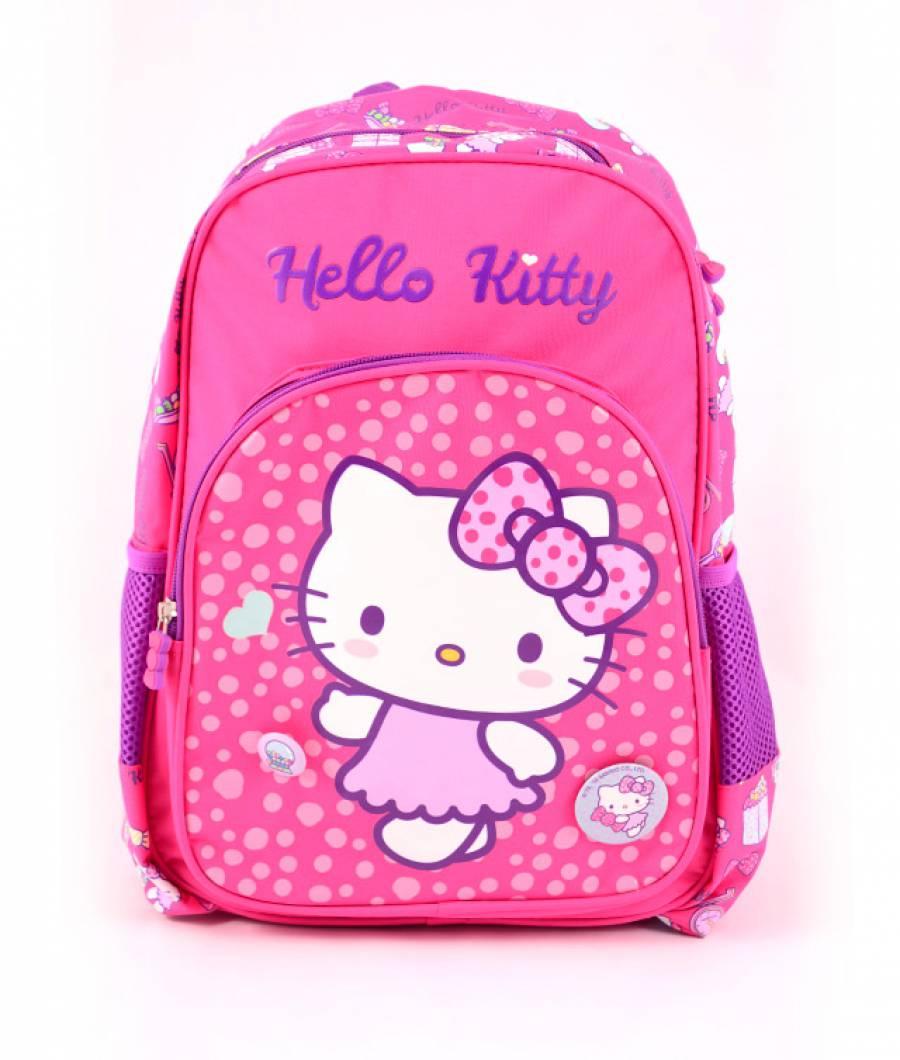 Ghiozdan Pregatitoare roz inchis Hello Kitty