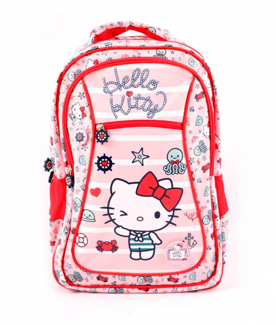 Ghiozdan clasa 1/4, roz deschis Hello Kitty