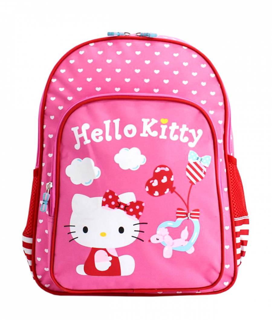 Ghiozdan Pregatitoare roz Hello Kitty
