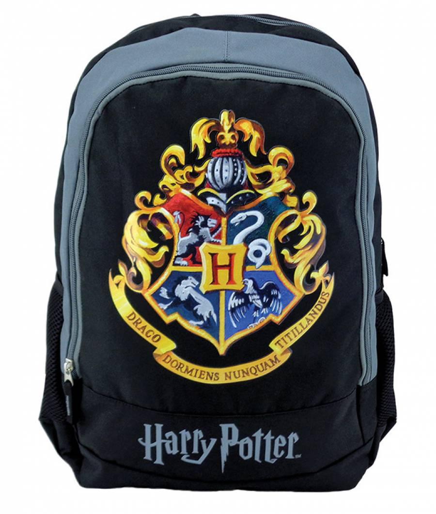 Ghiozdan Teens negru Hogwarts Harry Potter