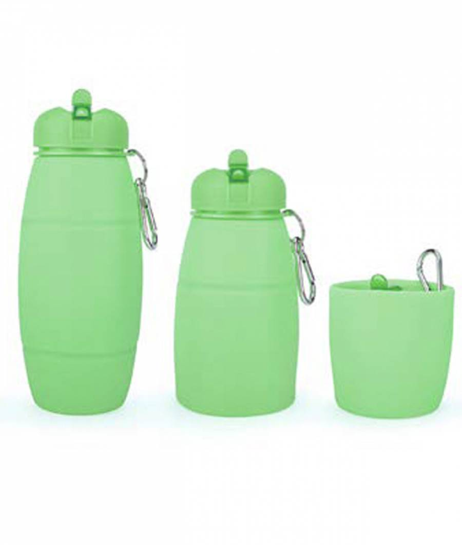 Sticla Lichide PREMIUM silicon 600 ml verde