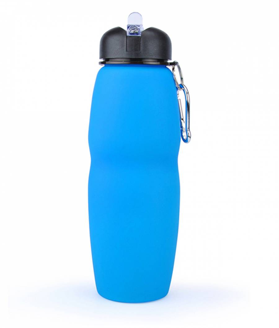 Sticla Lichide PREMIUM silicon pliabila 700 ml albastru