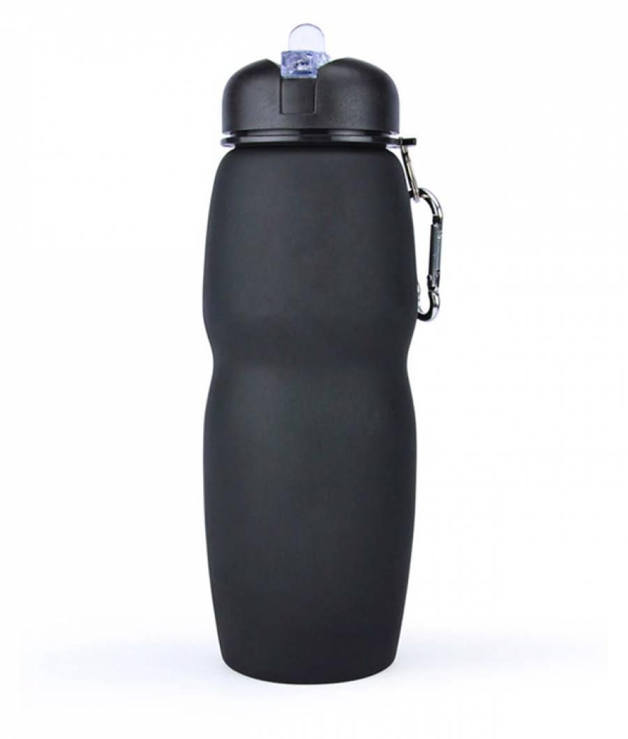 Sticla Lichide PREMIUM silicon pliabila 700 ml negru