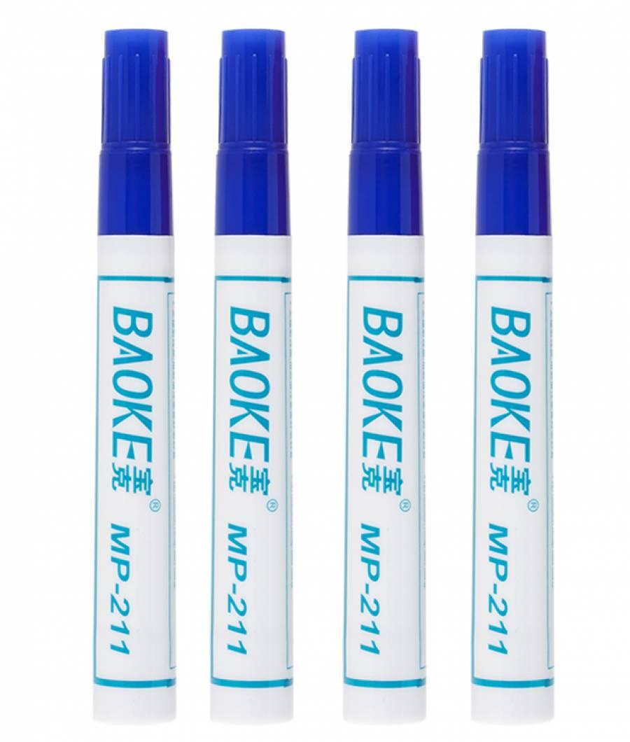 Marker Permanent 10buc/set albastru