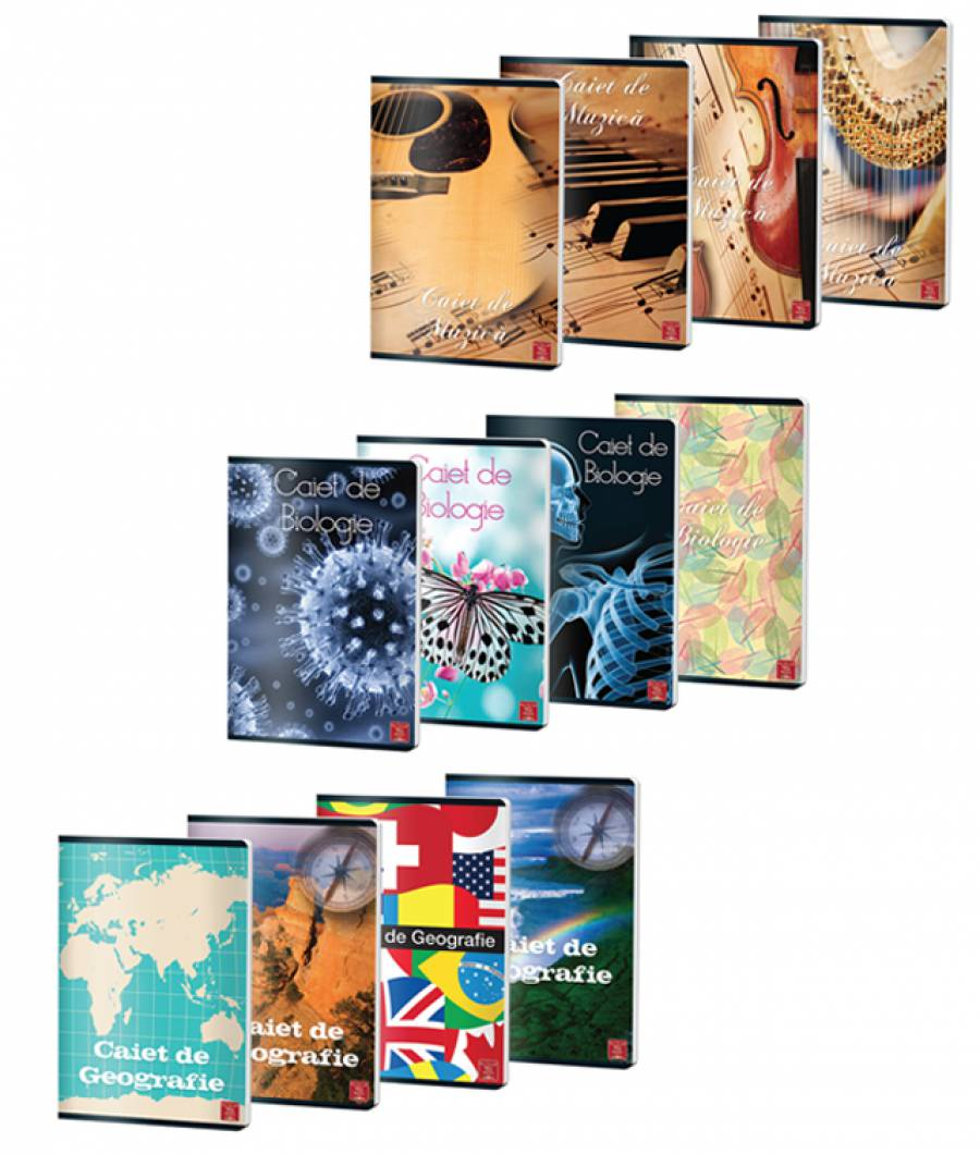 Set caiete Bio-Geo-Muzica
