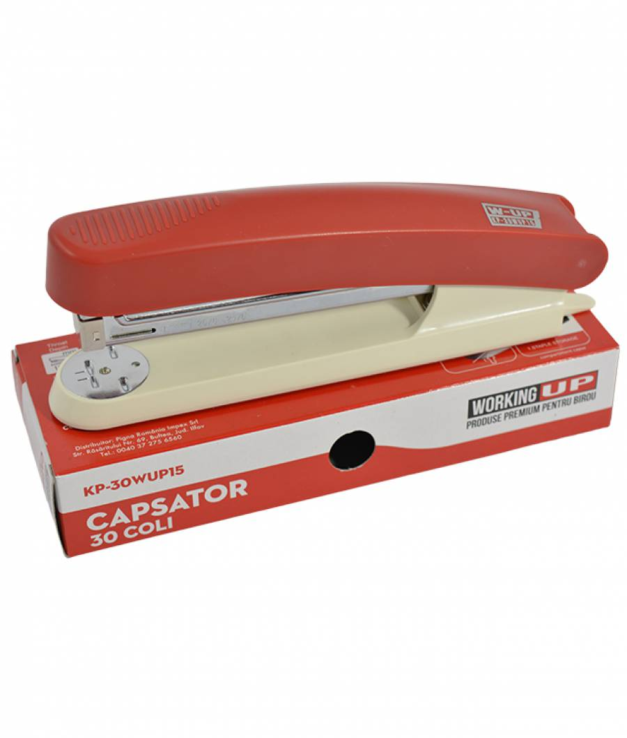 Capsator plastic 30 file (105mm) W-UP ROSU