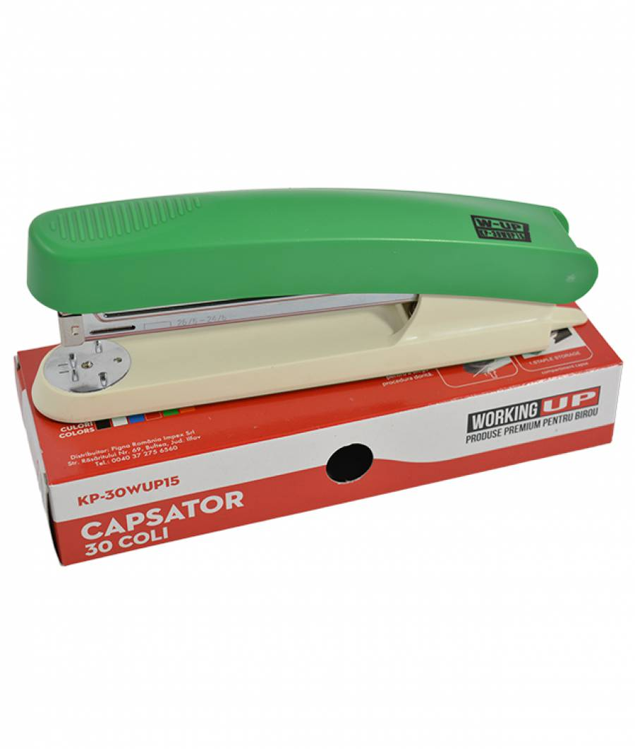Capsator plastic 30 file (105mm) W-UP VERDE