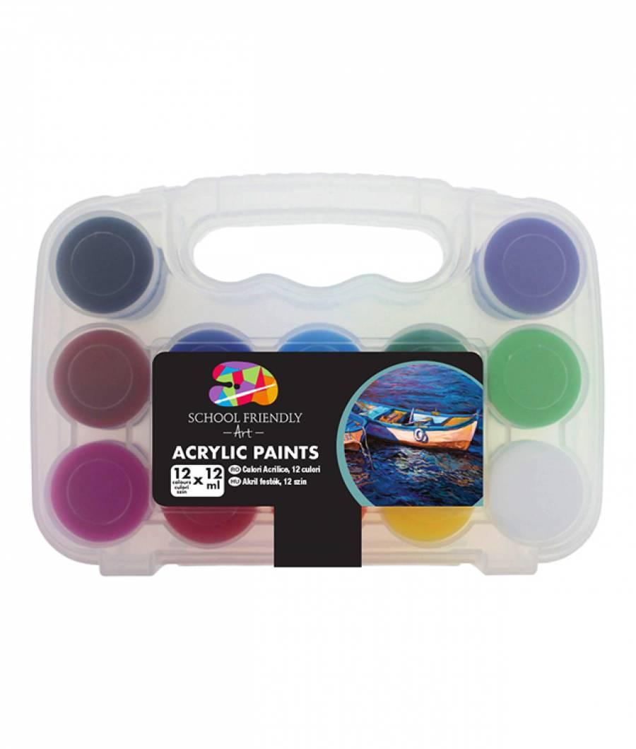 Acrilic SF ART 12culori 20ml container plastic