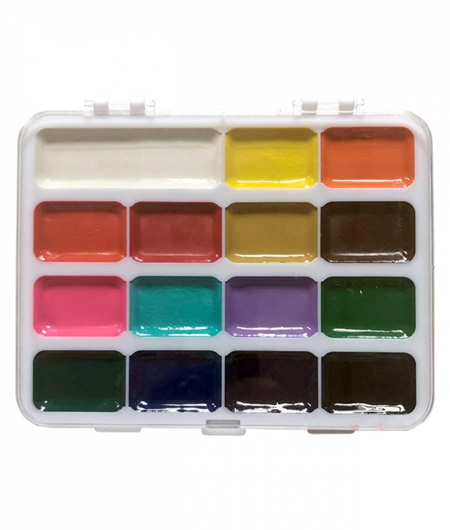 Acuarele Colour KIDS 15culori JUMBO semiuscate pe
