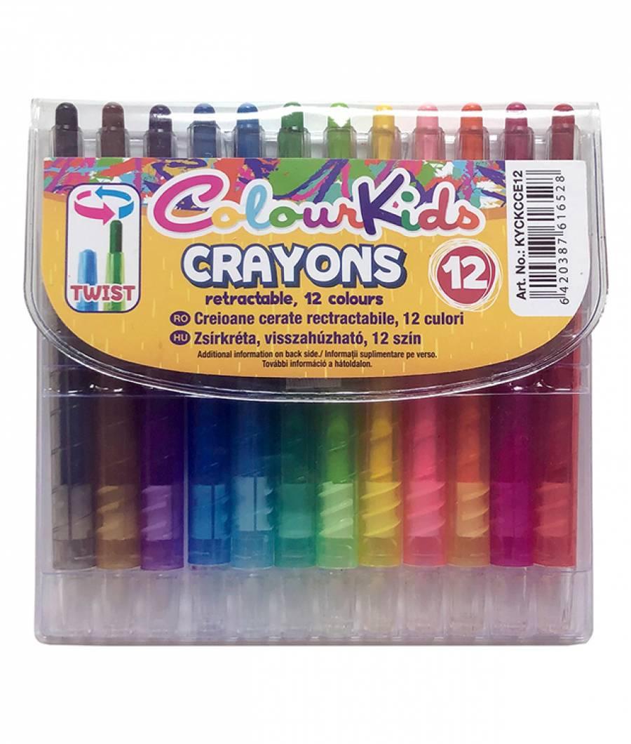 Creioane Cerate ColourKids 12culori ColourKids pro
