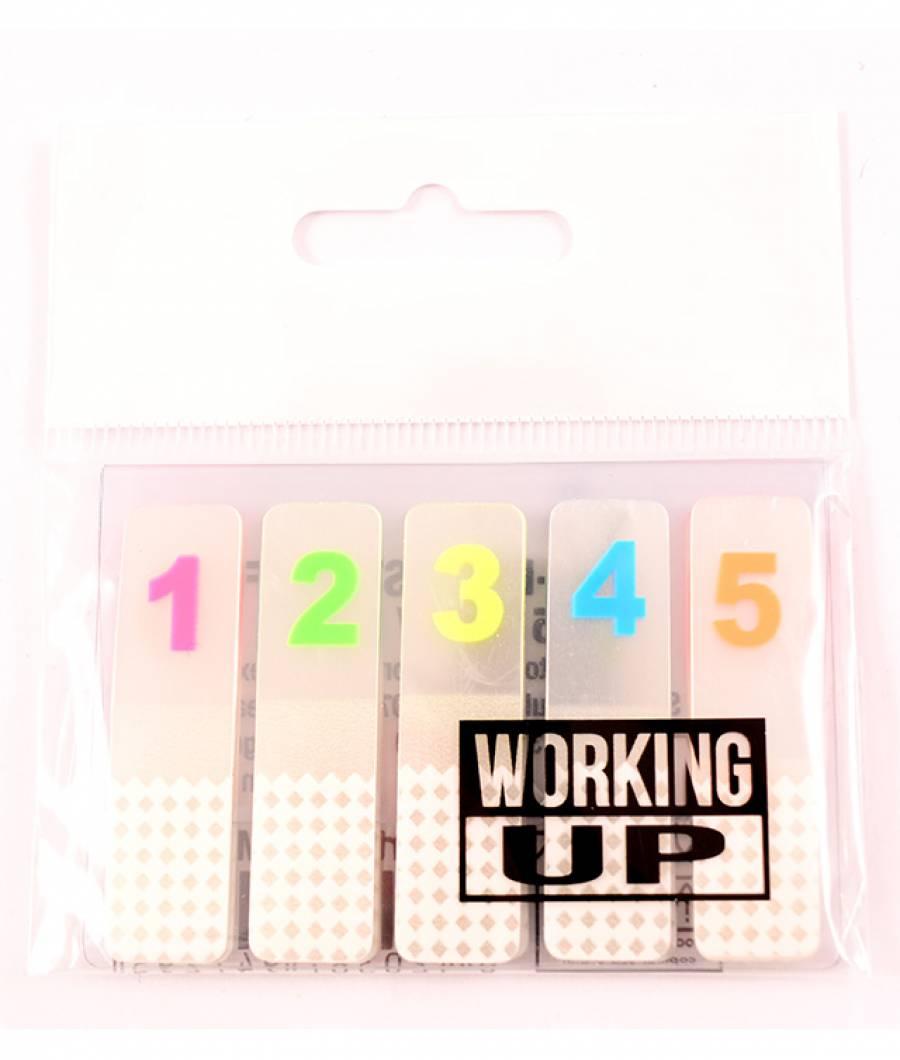 Notes adeziv  plastic  Cifre de la  0-9, pentru adnotari, 25 buc./cifra, W-UP