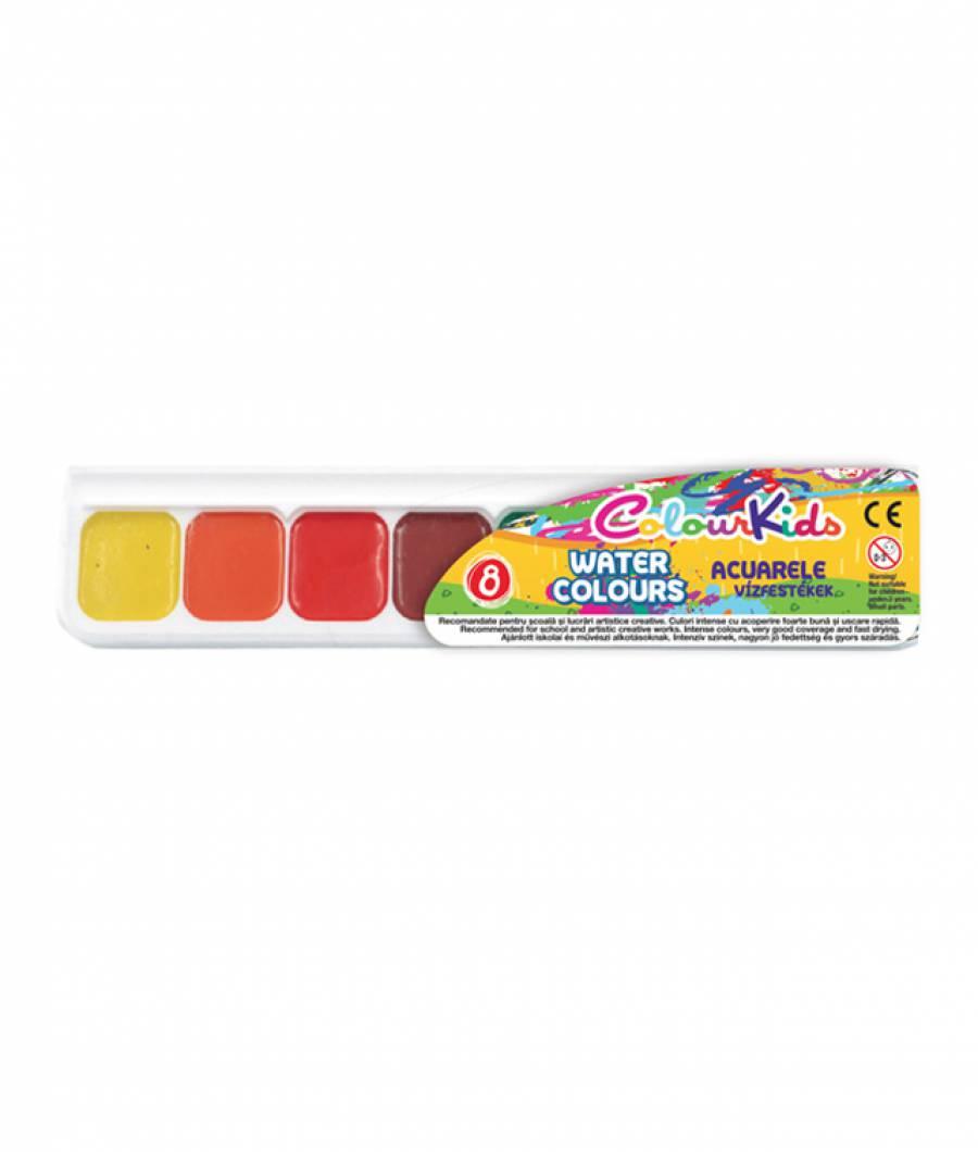 Acuarele semi-uscate 8 culori/set
