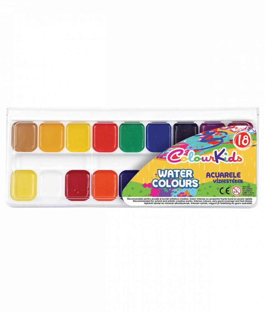Acuarele semi-uscate 18 culori/set