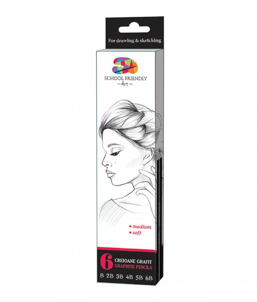 Creioane. Artist SFART grafit B, 2B, 3B, 4B, 5B, 6B SFART