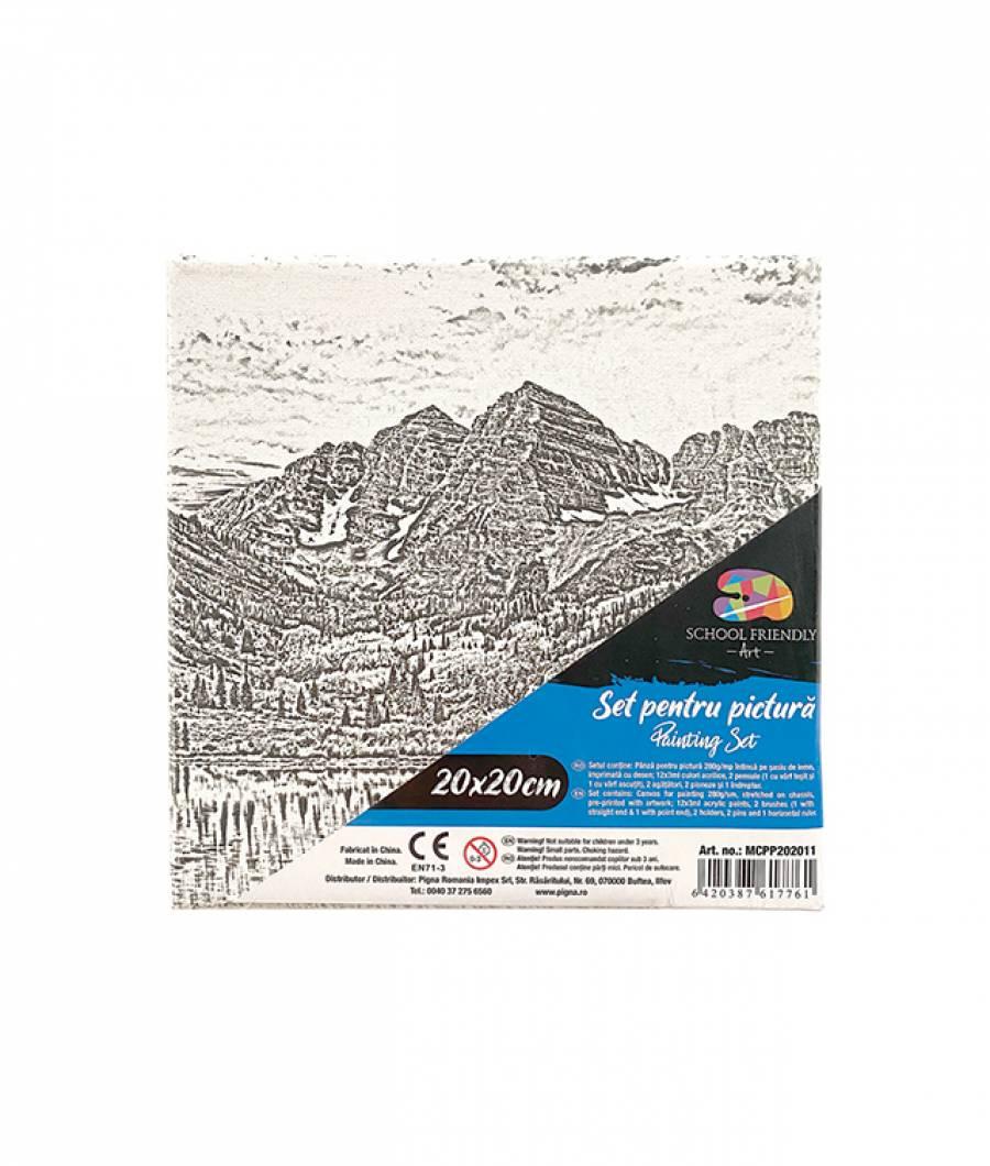 Panza SF ART pre printata  sasiu lemn 1.6x2.5cm 20x20cm Peisaj 4