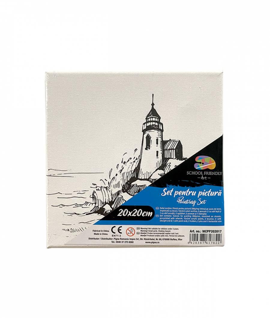 Panza SF ART pre printata  sasiu lemn 1.6x2.5cm 20x20cm Far 1